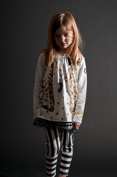 Polka Dot & Sequins Vest Tunic by: Mini Shatsu