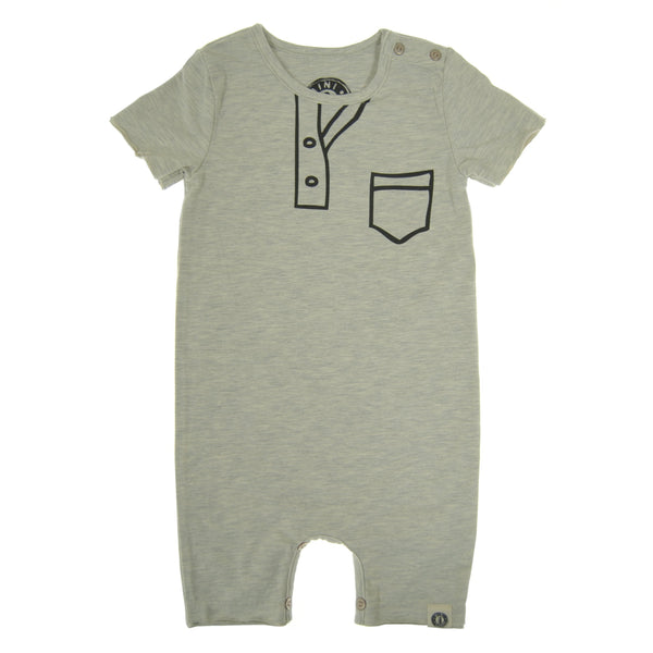 Marker Henley Baby Romper by: Mini Shatsu Essentials