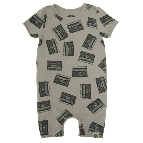 Allover Boom Box Baby Romper by: Mini Shatsu Essentials