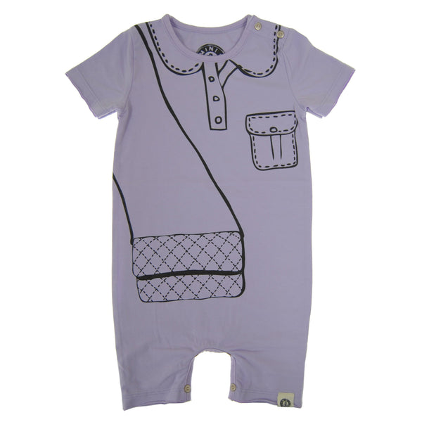 Marker Purse Baby Romper by: Mini Shatsu Essentials