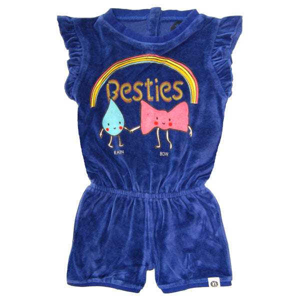 Rainbow Besties Baby Girl Romper by: Mini Shatsu