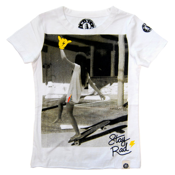 Stay Rad Skater Girl Baby T-Shirt by: Mini Shatsu