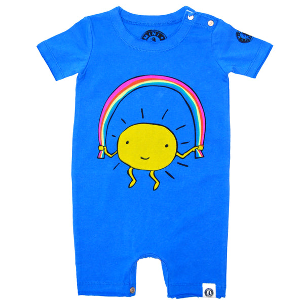 Rainbow Jump Rope Romper by: Mini Shatsu