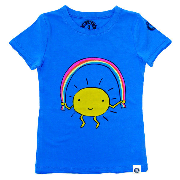 Rainbow Jump Rope Baby T-Shirt by: Mini Shatsu