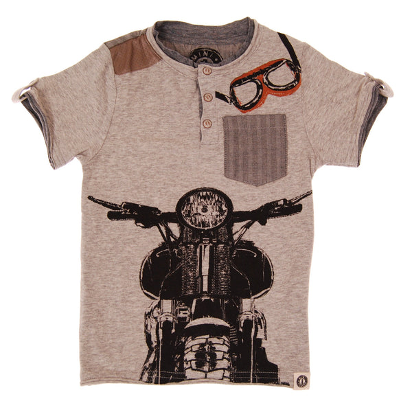 Vintage Biker Henley Shirt by: Mini Shatsu