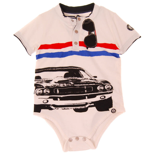 American Muscle Car Henley Bodysuit by: Mini Shatsu