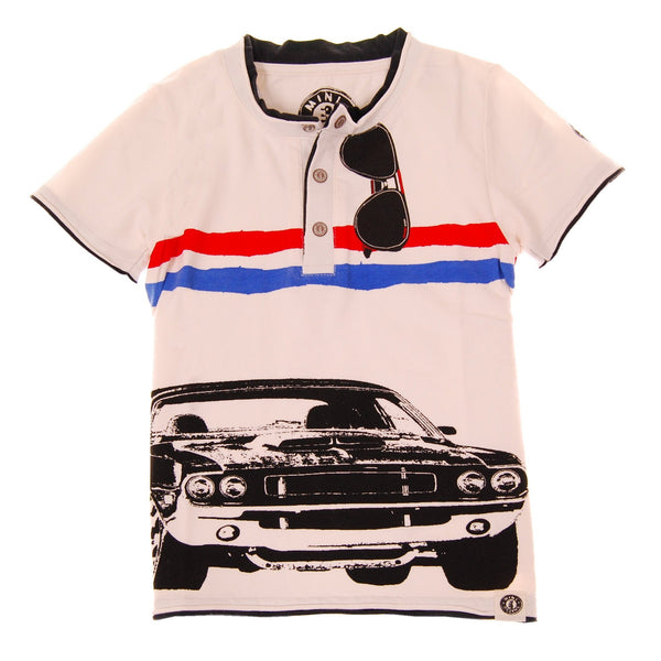 American Muscle Car Henley Shirt by: Mini Shatsu