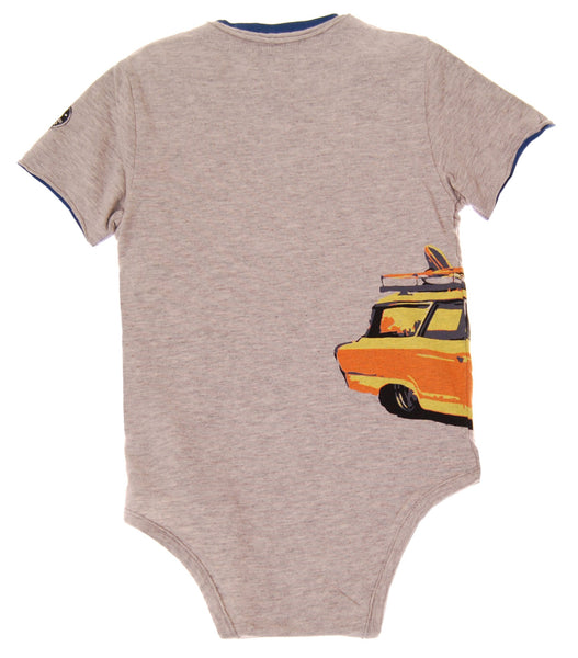 Surf Wagon Henley Bodysuit by: Mini Shatsu