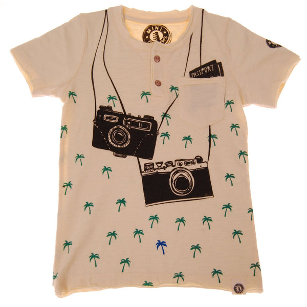 Island Vacation Baby Henley Shirt by: Mini Shatsu