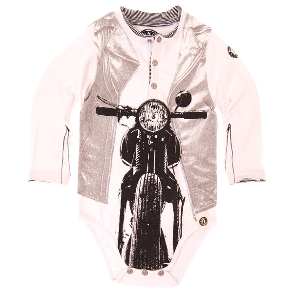 Old School Chopper Henley Bodysuit by: Mini Shatsu