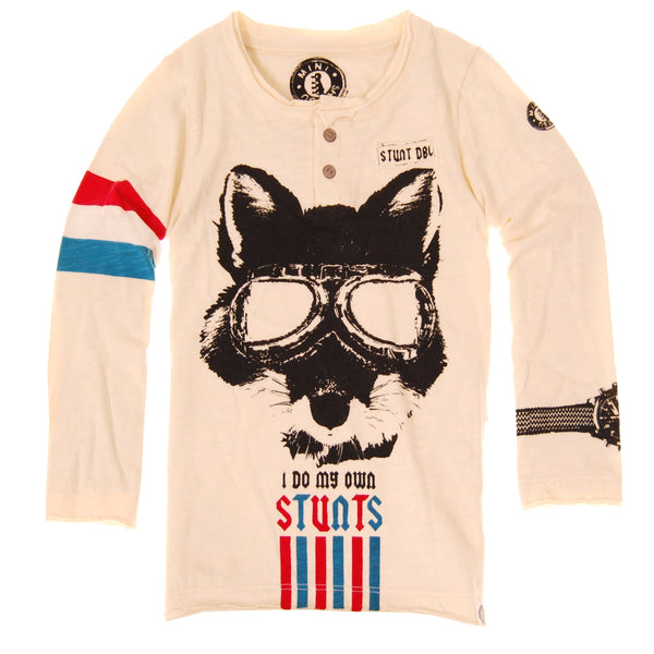 Stunt Fox Henley by: Mini Shatsu