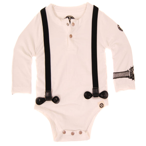 Real Suspenders Henley Bodysuit by: Mini Shatsu