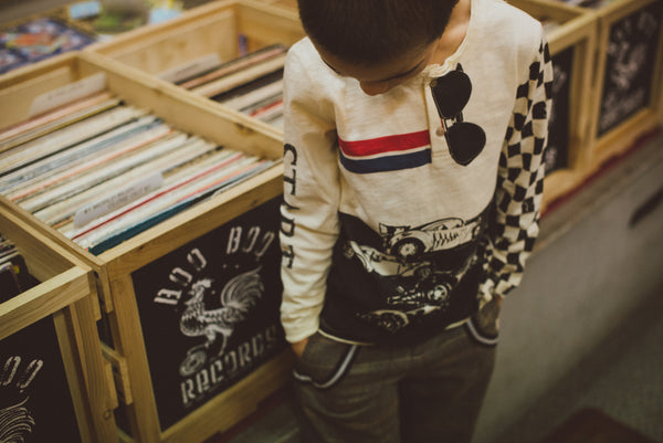 Checker Racers Henley by: Mini Shatsu