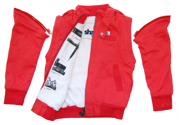 Secret Agent Red Baby Jacket-Vest by: Mini Shatsu