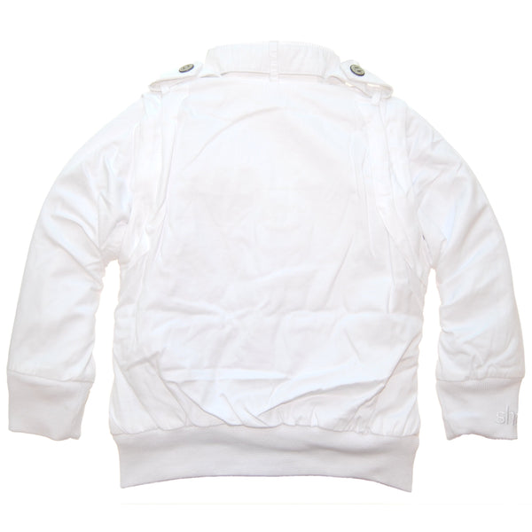 Secret Agent White Baby Jacket-Vest by: Mini Shatsu