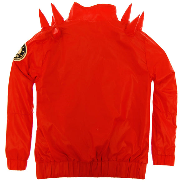 Spike Red Windbreaker Jacket by: Mini Shatsu