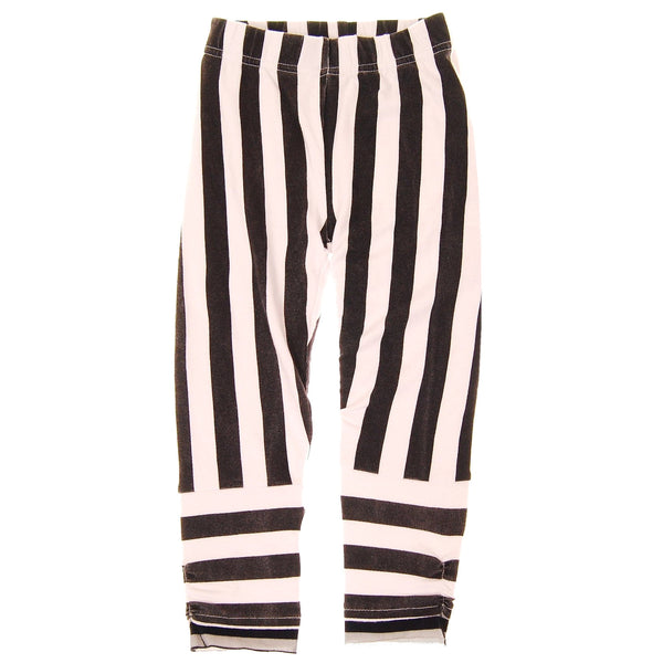 Black & White Stripe Baby Girl Legging by: Mini Shatsu