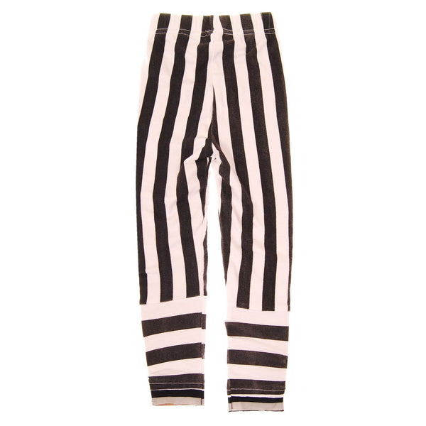 Black & White Stripe Girl Legging by: Mini Shatsu