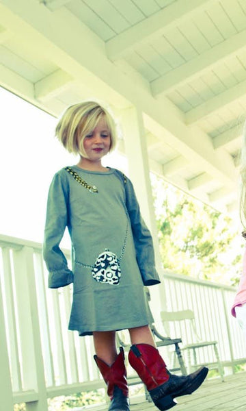 Pigtails Long Sleeve Baby Dress by: Mini Shatsu