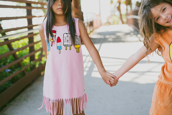 Stay Cool Fringe Baby Dress by: Mini Shatsu