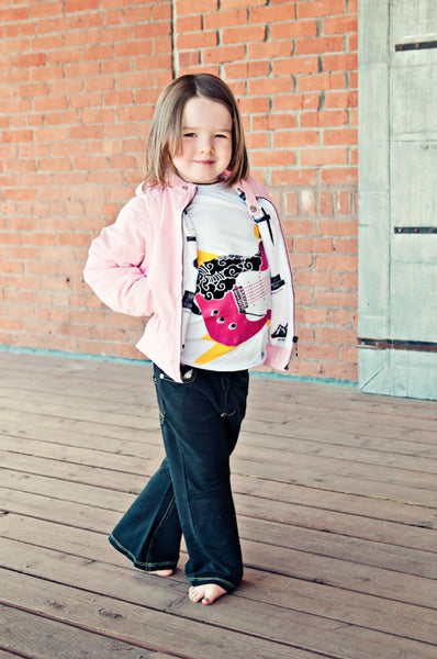 Secret Agent Pink Baby Jacket-Vest by: Mini Shatsu