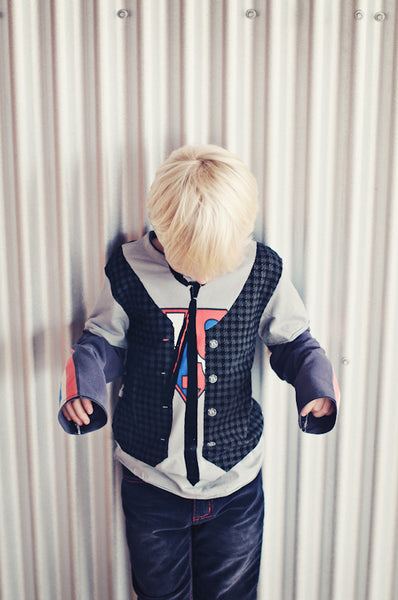 Super Hero Vest Twofer T-shirt by: Mini Shatsu