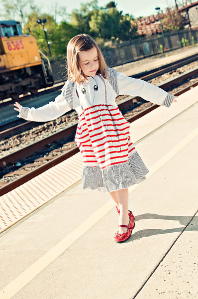 Headphones Suspenders Baby Long Sleeve Dress by: Mini Shatsu