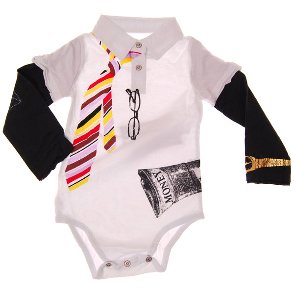 Young CEO Long Sleeve Polo Bodysuit by: Mini Shatsu
