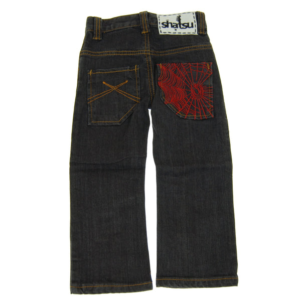 Webster Black Denim Baby Jeans by: Mini Shatsu