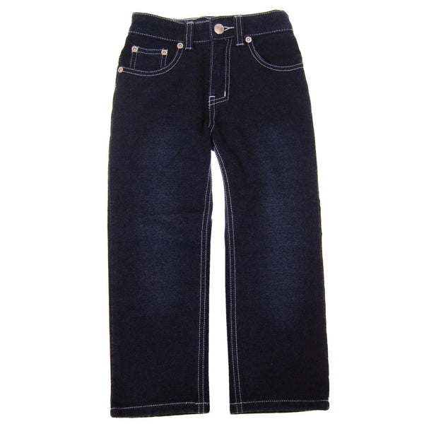 Blue Washed Franco French Terry Baby Jeans by: Mini Shatsu