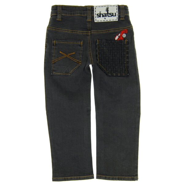 Speedster Black Denim Baby Jeans by: Mini Shatsu
