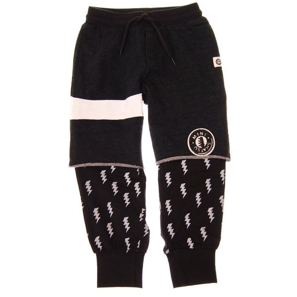 Lightning Bolt Twofer Baby Sweatpants by: Mini Shatsu