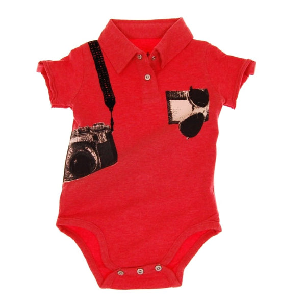 Paparazzi Polo Bodysuit by: Mini Shatsu