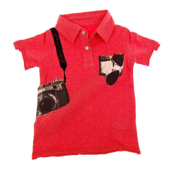 Paparazzi Baby Polo Shirt by: Mini Shatsu