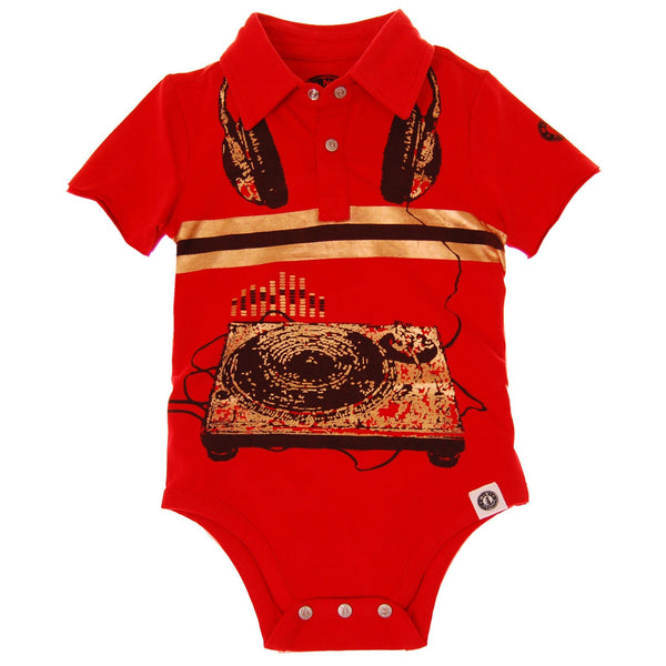 Spin Doctor Polo Bodysuit by: Mini Shatsu