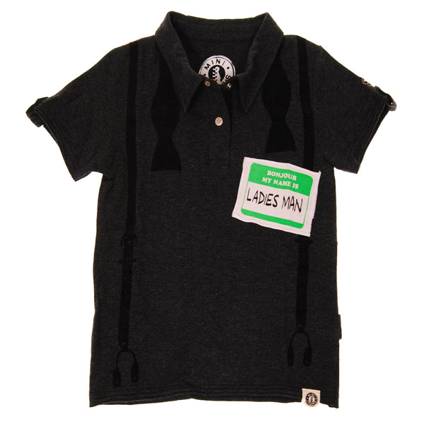 Ladies Man Polo Shirt by: Mini Shatsu