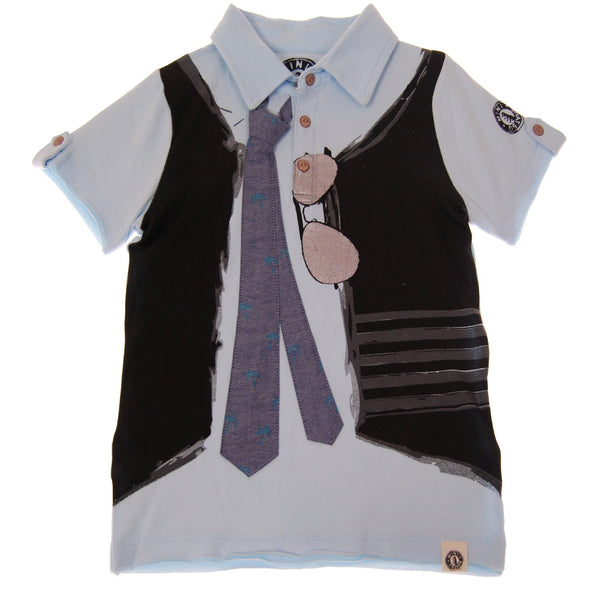 Real Tie Baby Polo Shirt by: Mini Shatsu