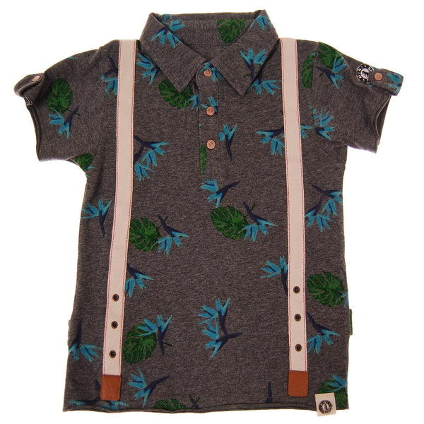Aloha Suspenders Baby Polo Shirt by: Mini Shatsu