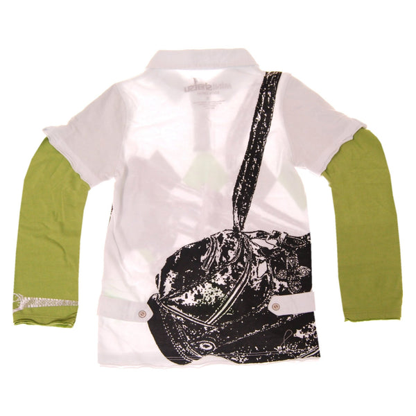 Pro Golfer Argyle Long Sleeve Baby Polo Shirt by: Mini Shatsu