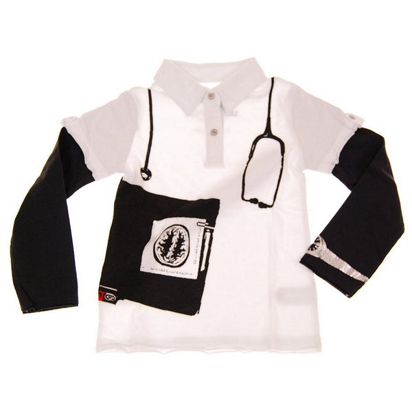 M. D. Long Sleeve Baby Polo Shirt by: Mini Shatsu