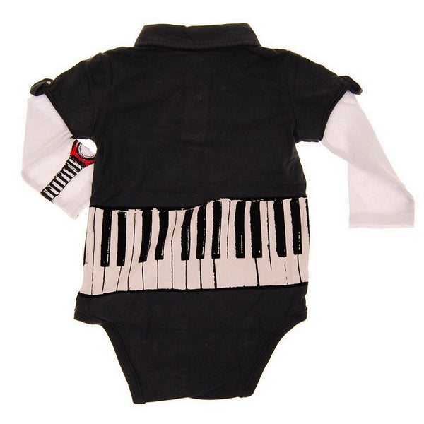 Keyboardist Long Sleeve Polo Bodysuit by: Mini Shatsu
