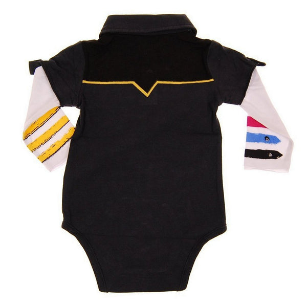 Hendrix Long Sleeve Polo Bodysuit by: Mini Shatsu