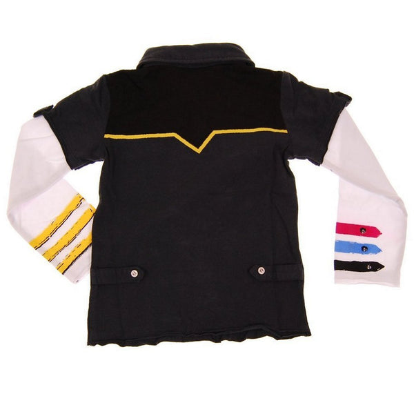 Hendrix Baby Long Sleeve Polo Shirt by: Mini Shatsu