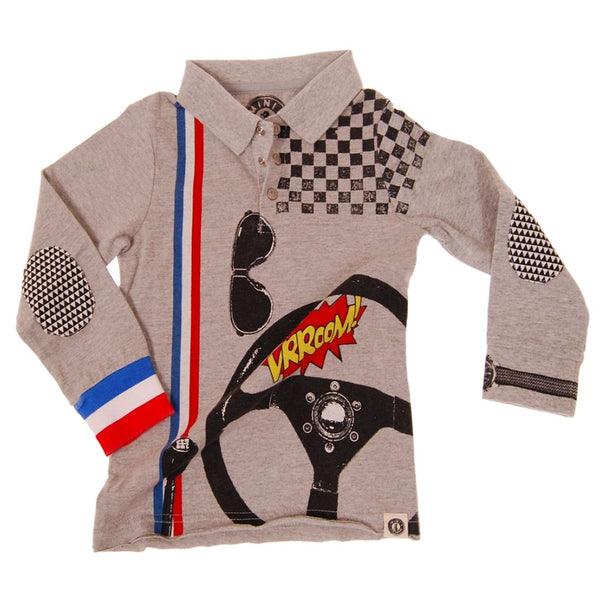 Speedster Baby Polo Shirt by: Mini Shatsu