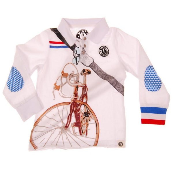 Cyclist Long Sleeve Polo Shirt by: Mini Shatsu