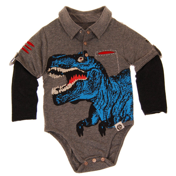 T Rex Polo Bodysuit by: Mini Shatsu