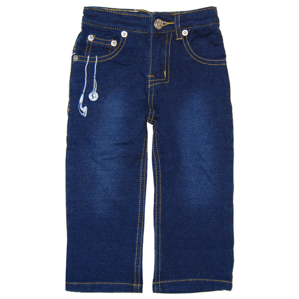 Raefer Blue Washed French Terry Jeans by: Mini Shatsu