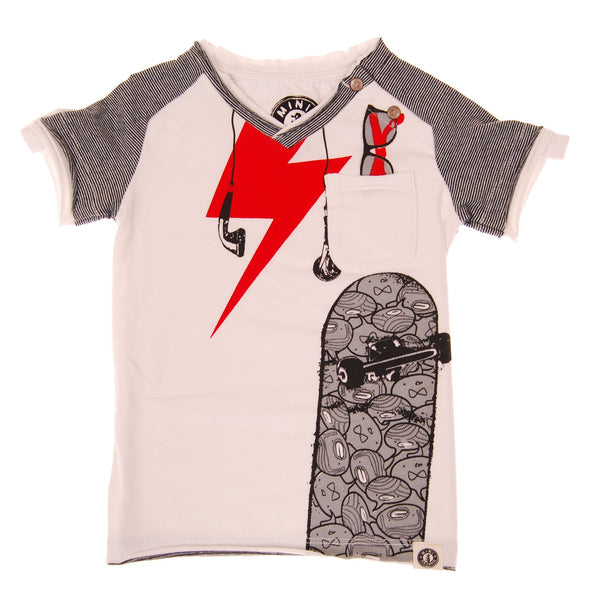 Earphone Skater Raglan T-Shirt by: Mini Shatsu