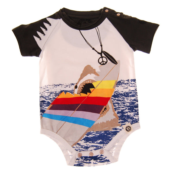 Shark Encounter Raglan Bodysuit by: Mini Shatsu