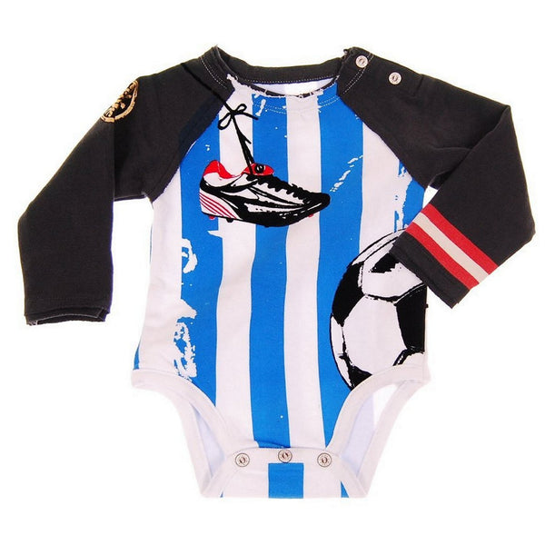 Soccer Long Sleeve Raglan Bodysuit by: Mini Shatsu